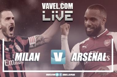 MIlan y Arsenal se verán las caras en el partidazo de esta eliminatoria | Fotomontaje: VAVEL