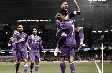 Los madridistas Cristiano Ronaldo y Sergio Ramos celebran uno de los goles conseguidos en la última final. | FOTO: FIFA.com
