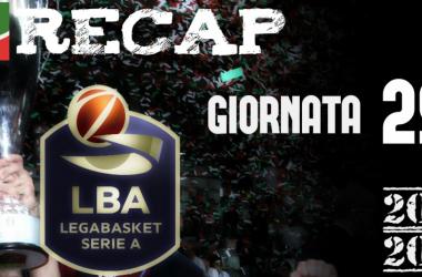 Legabasket: risultati e tabellini della 29 giornata
