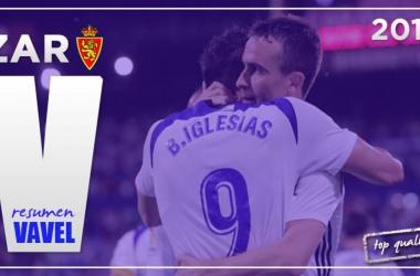 Borja y Mikel celebrando uno de los goles de esta temporada | Montaje: Fotomontajes VAVEL