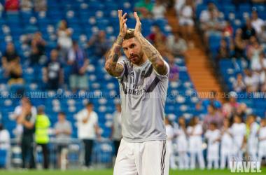 Sergio Ramos en el primer partido de la temporada | Foto: VAVEL