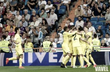 Jugadores del Villarreal celebran un gol ante el Real Madrid. Imagen: Daniel Nieto (VAVEL)
