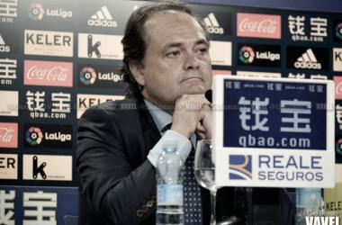 Jokin Aperribay en rueda de prensa. Foto: Gio Batista (VAVEL)