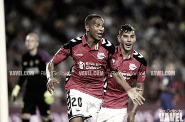 Devyerson marcó uno de sus tantos en el Camp Nou | Fotografía: Alex Gallardo / VAVEL