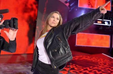 Ronda Rousey crashes the Royal Rumble Photo credit: WWE