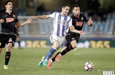 Joseba Zaldua volverá a ser el lateral derecho realista. Foto: Óscar Alonso