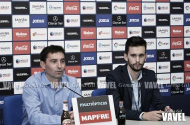 Garitano en rueda de prensa tras el Leganés-Valencia. Foto: Gema Gil - VAVEL.com