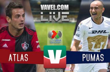 Resultado y goles del Atlas 0-3 Pumas de la Liga MX 2018