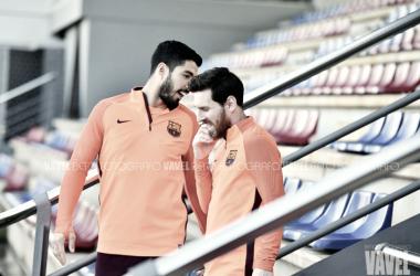 Entrenamiento del Fútbol Club Barcelona previo al duelo europeo | VAVEL