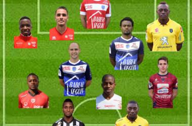 Ligue 2 : Equipe Type de la 29ème journéeSource photo : terrain L'Equipe et joueurs sites officiels des clubs