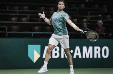 Derecha invertida del español | Foto: ATP 500 de Rotterdam