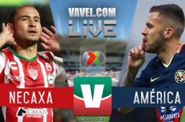 Goles del partido Necaxa vs Américaen Liga MX 2018 (1-1)