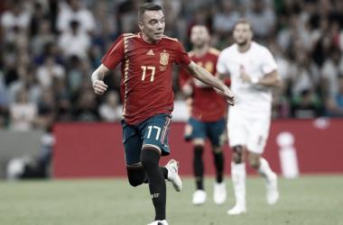 Iago Aspas durante un partido con la Roja | Foto: sefutbol
