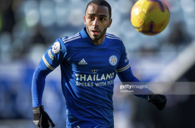 LEICESTER, ENGLAND - FEBRUARY 13: Ricardo Pereira of Leicester City in action during the Premier League match between Leicester City and Liverpool at The King Power Stadium on February 13, 2021 in Leicester, United Kingdom. (Photo by Visionhaus/Getty Images)
