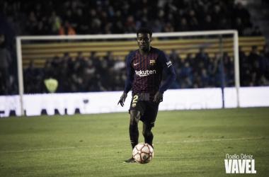 Moussa Wagué también fue titular en la final de la Supercopa de Cataluña 2018/19 | Foto de Noelia Déniz, VAVEL
