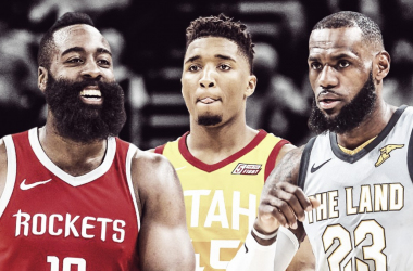 James Harden, Donovan Mitchell, and LeBron James were just some of the many players that dominated in the first-round of the NBA Playoffs. Image credit: Clutchpoints.com