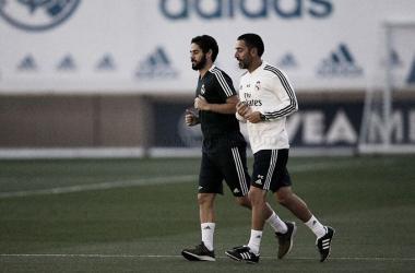 Isco y Marcelo vuelven al trabajo