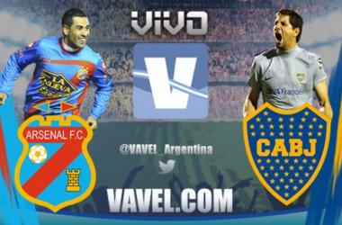 Resultado Arsenal de Sarandí - Boca Juniors 2015 (1-1)