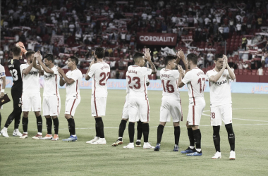 El Sevilla se estrenó en liga con goleada. Foto: Sevilla FC.
