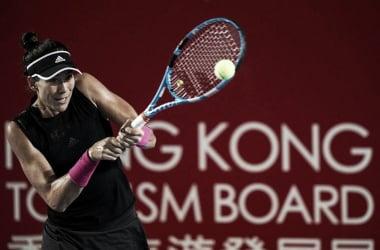Muguruza, pegando de revés | Foto: WTA