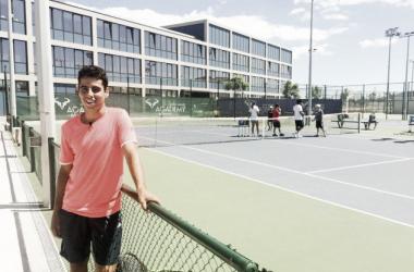 Munar en la Academia de Rafael Nadal | Foto: Rafa Nadal Academy by Movistar