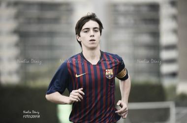 Jorge Alastuey, capitán del FCB Cadete A. Foto: Noelia Déniz, VAVEL