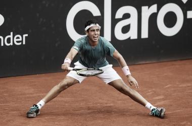 Munar durante su partido ante el canadiense | Foto: ATP 500 de Río