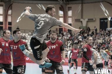 El acierto tanto ofensivo como en porteria decretaron el 26-22 final. Foto: Hugo Izquierdo
