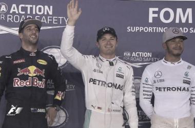 La foto de los tres primeros   Foto: Fórmula 1