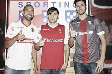 Kadu, Rusescu e André Pinto apresentados como reforços do SC Braga (Foto em: maisfutebol.iol.pt)