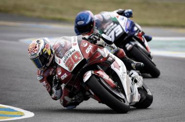 Takaaki Nakagami y Alex Márquez en el Gran Premio de Francia / Fuente: MotoGP