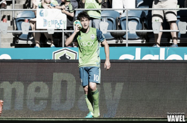 Nicolas Lodeiro scored his first goal as a member of the Seattle Sounders against Real Salt Lake   Brandon Farris - VAVEL USA
