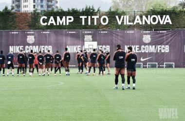 Último entrenamiento antes de recibir al Valencia | Foto de Tomás Rubia, VAVEL