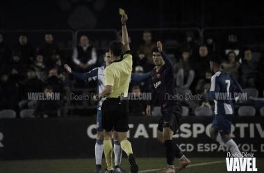 Espanyol B y Barça B en un partido. / Foto: Noelia Déniz-VAVEL