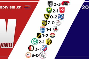 Resumen de la jornada 31 de la Eredivisie: el PSV, nuevo campeón de Holanda