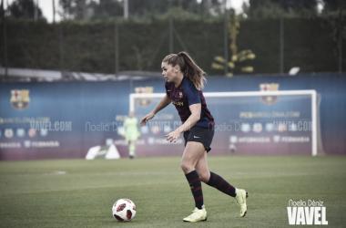 Lieke Martens durante un partido en la Ciutat Esportiva Joan Gamper | Foto de Noelia Déniz, VAVEL