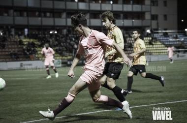 Álex Collado en el Sant Andreu - Barça B de la pasada edición de la Copa Catalunya | Foto: Noelia Déniz (VAVEL)