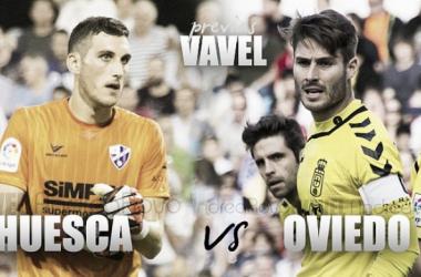 Previa SD Huesca - Real Oviedo: prueba de fuego | Fotomontaje: Claudia Moreno (VAVEL).