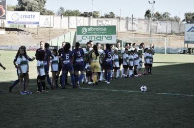 Imagen de un partido entre ambas en la Copa Federación // Imagen: Extremadura Femenino