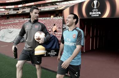 Santi Cazorla durante su entrenamiento especial en el Emirates Stadium | Fotografía: Arsenal