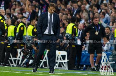 La etapa de Julen Lopetegui al frente del Real Madrid ha sido breve. | Foto: Daniel Nieto