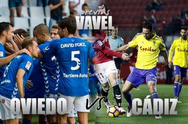 Real Oviedo - Cádiz CF: el playoff pasa por el Tartiere. (Fotomontaje: VAVE.)