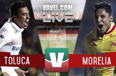 Resultado y goles del Toluca 2-2 Morelia de la Copa MX 2017