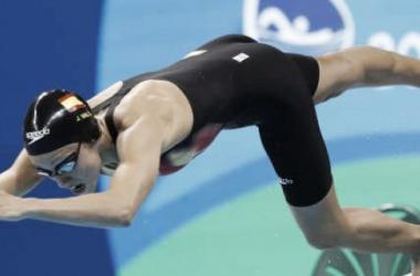 Jessica Vall en las semifinales de los 200 braza en los JJOO de Río de Janeiro. / Foto: EFE