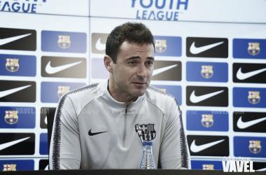 Denis Silva, entrenador del Juvenil A del FC Barcelona. FOTO: Noelia Déniz