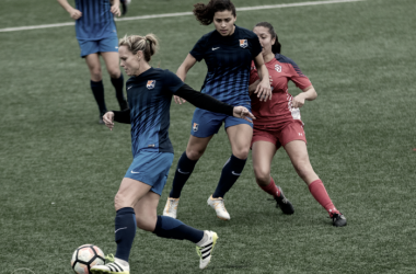 Christie Rampone and Raquel Rodriguez playing in Sky Blue's first preseason match | Source: Leanne Keator