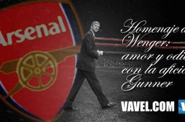 Homenaje a Wenger: amor y odio con la afición 'Gunner'