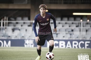 Juan Miranda, jugador del FC Barcelona B. FOTO: Noelia Déniz