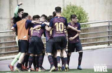 Los jugadores del Juvenil B celebrando un gol. FOTO: Noelia Déniz