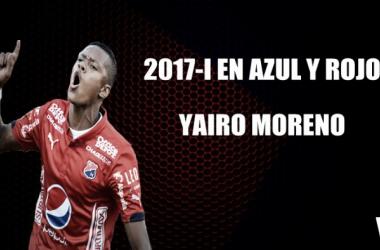 2017-1 en azul y rojo: Yairo Moreno